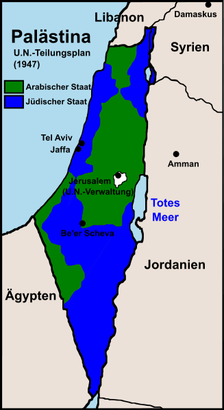 Israel 7 Landkarte-Israel-Teilungsplan-1947
