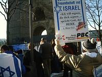 Israel-Fahne verbrannt