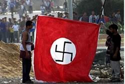 Araber mit Naziflagge